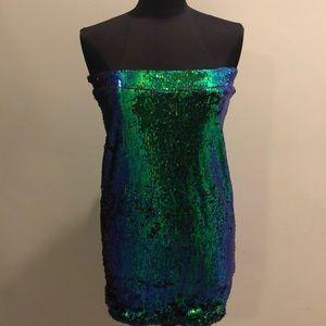 Sequins Mini Dress size XL but it's real M